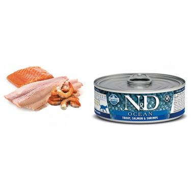 N&D Cat Ocean Trout,Salmon & Shrimp Wet Food