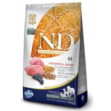N&D Ancestral Low Grain Lamb & Blueberry Adult Medium