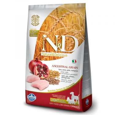 N&D Ancestral Low Grain Chicken & Pomegranate Light Mini/Medium