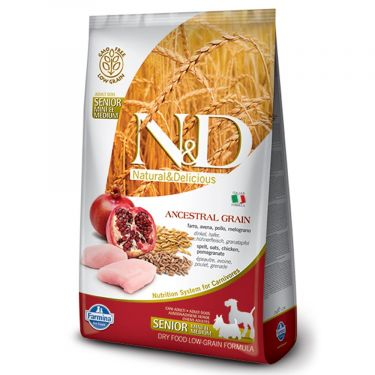 N&D Ancestral Low Grain Chicken & Pomegranate Senior Mini/Medium