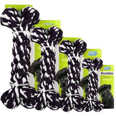 Pet Brands Knotties Κόκαλο Mαύρο