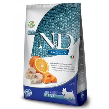 N&D Ocean Grain Free Pumpkin Codfish & Orange Adult Mini