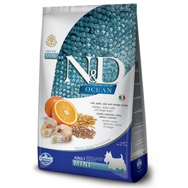 N&D Ocean Low Grain Codfish & Orange Adult Mini