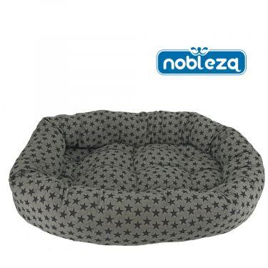 Nobleza Στρώμα/Κρεββάτι Oval Grey Black Stars