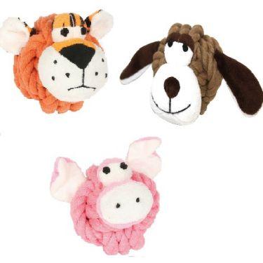 Happy Pet Knottie Heads Παιχνίδια Για Σκύλους