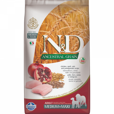 N&D Ancestral Low Grain Chicken & Pomegranate Adult Medium Maxi