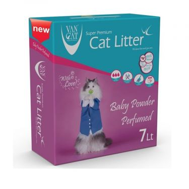 Van Cat Box Baby Powder Clumping