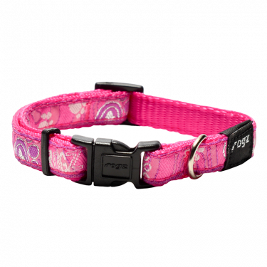 Rogz Περιλαίμιο Σκύλου Fancy Pink Paw