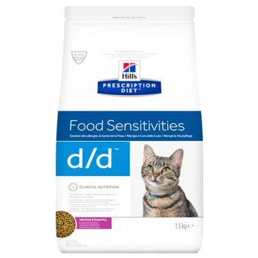Hill's Prescription Diet d/d Food Sensitivities για Γάτες με Πάπια & Πράσινα Μπιζέλια
