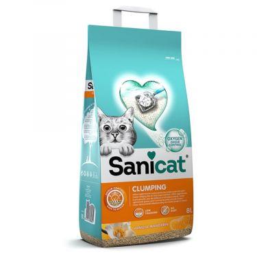 Sanicat Clumping Με Άρωμα Βανίλια & Μανταρίνι