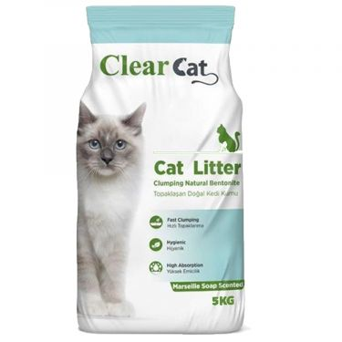 Clear Cat Marseille Soap Clumping