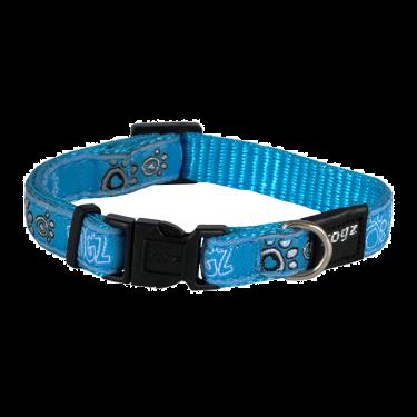 Rogz Περιλαίμιο Σκύλου Fancy Turquoise Paws