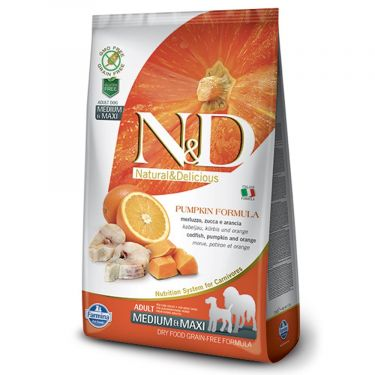 N&D Grain Free Pumpkin Codfish & Orange Adult Medium/Maxi