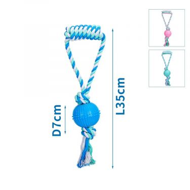 Nobleza Cotton Rope with TPR Latex Ball with handle
