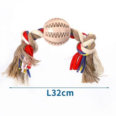 Nobleza Beige/Brown Cotton Rope with Ball