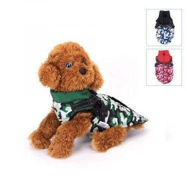 Nobleza Dog Jacket Camouflage Chest-in-one