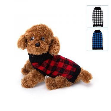 Nobleza Dog Πουλόβερ με ζιβάγκο καρό