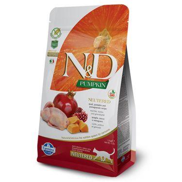 N&D Pumpkin Grain Free 'Neutered' Quail & Pomegranate Adult Cat