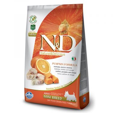 N&D Grain Free Pumpkin Codfish & Orange Adult Mini