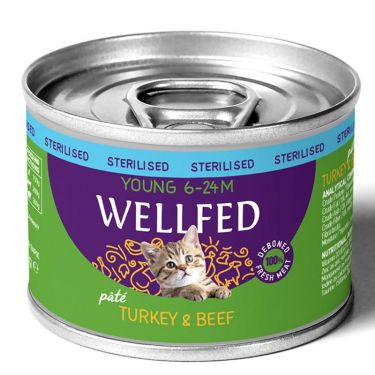 Wellfed Young Sterilised Turkey & Beef