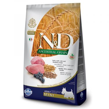 N&D Ancestral Low Grain Lamb & Blueberry Adult Mini