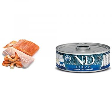 N&D Cat Ocean Salmon, Cod & Shrimp Wet Food