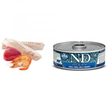 N&D Cat Ocean Small Tuna, Cod & Shrimp Wet Food