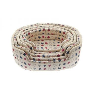 Ferribiella Dog Oval Cotton Stars Kρεβάτι Απλό