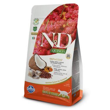 N&D Quinoa Grain Free 'Skin & Coat' Herring Adult Cat