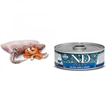 N&D Cat Ocean Sea Bass, Squid & Shrimp Wet Food