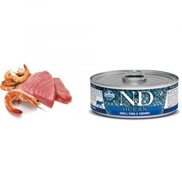 N&D Cat Ocean Small Tuna & Shrimp Wet Food
