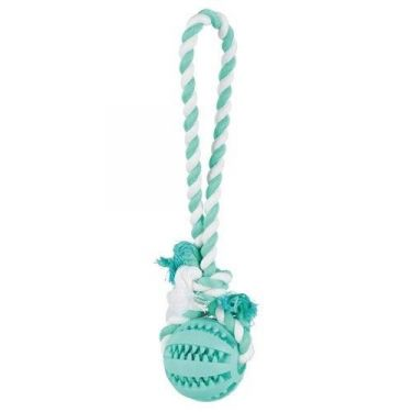 Trixie Denta Fun Playing Rope with Ball 3299