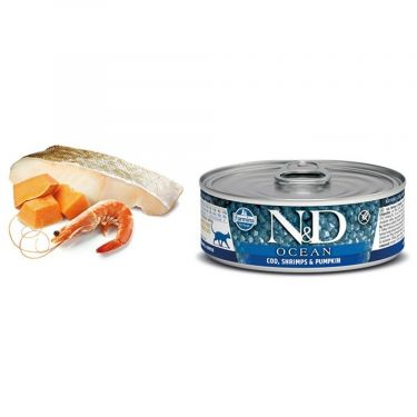 N&D Cat Ocean Cod, Shrimp & Pumpkin Wet Food