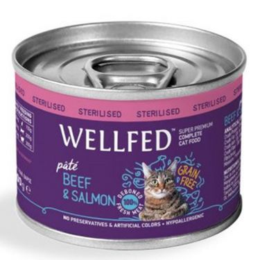 Wellfed Adult Sterilised Beef & Salmon