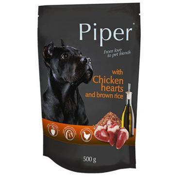 Piper Φακελάκι Σκύλου Καρδιά Κοτόπουλου & Καστανό Ρύζι