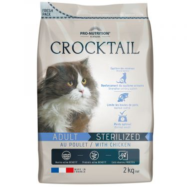 Flatazor Crocktail Cat Αdult Sterilized  Κοτόπουλο