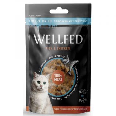 Wellfed Cat Freeze Dried με Ψάρι & Κοτόπουλο