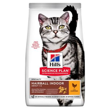 Hill's Science Plan Adult 1-6 Hairball Indoor Κοτόπουλο