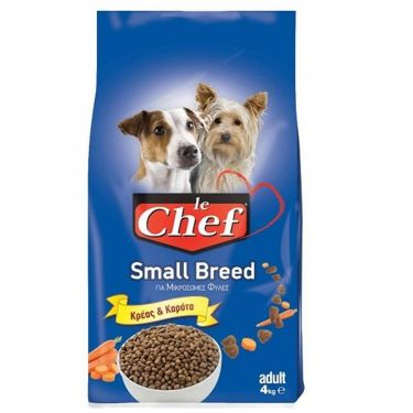 Le Chef Adult Small Breed με Κρέας & Καρότο