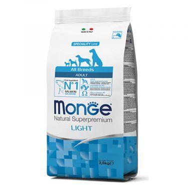 Monge Adult All breed Light με Σολομό & Ρύζι