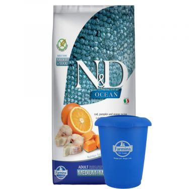 N&D Ocean Grain Free Pumpkin Codfish & Orange Adult Medium/Maxi