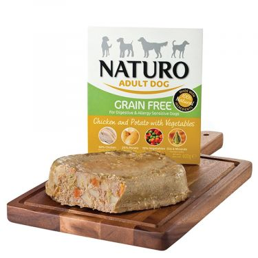 Naturo Κονσέρβα Σε Δίσκο Adult Dog Vegetables Grain Free 400gr