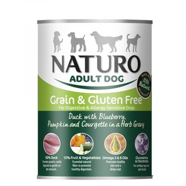 Naturo Κονσέρβα Adult Dog Veggies and Fruit  Grain Free 390gr