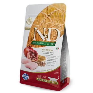 N&D Ancestral Low Grain Chicken & Pomegranate Adult Neutered Cat