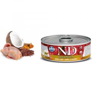 N&D Cat Quinoa Skin & Coat Quail & Coconut Wet Food