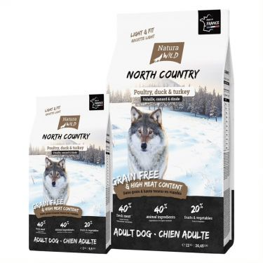 "Natura Wild Adult Dog GF Light & Fit ""North Country"" με Πουλερικά, Πάπια & Γαλοπούλα"