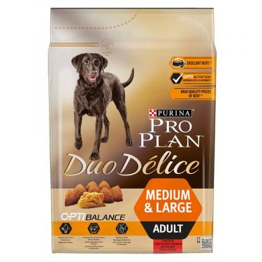 Pro Plan Duo Delice Adult Medium & Large Βοδινό