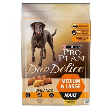 Pro Plan Duo Delice Adult Medium & Large Κοτόπουλο
