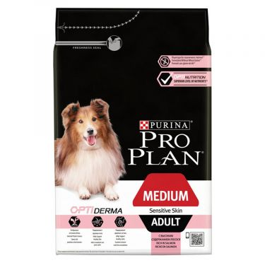 Pro Plan Adult Medium Sensitive Skin Optiderma