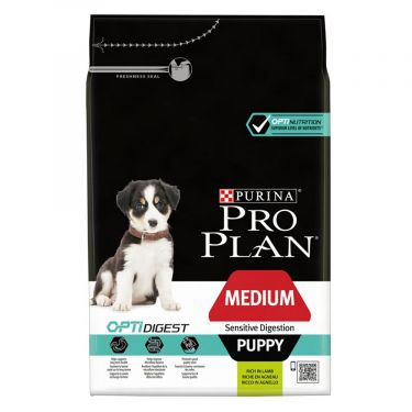 Pro Plan Puppy Medium Sensitive Digestion Optidigest Αρνί